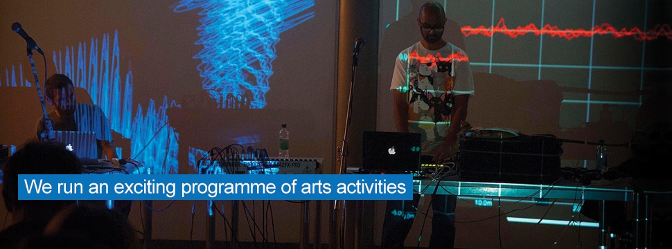 We run an exciting programme of arts activities